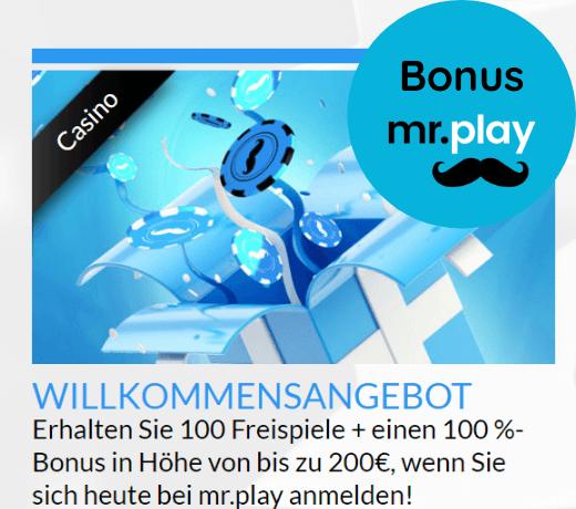 Mr Play DE Willkommens bonus