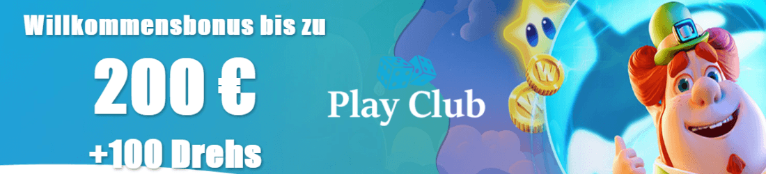 play club DE 200 euro bonus und 100 free spins