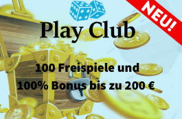 play club 100% bonus und 100 spins