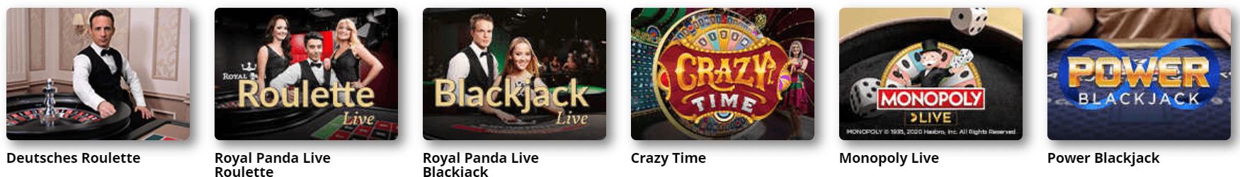 live casino spiele royal panda