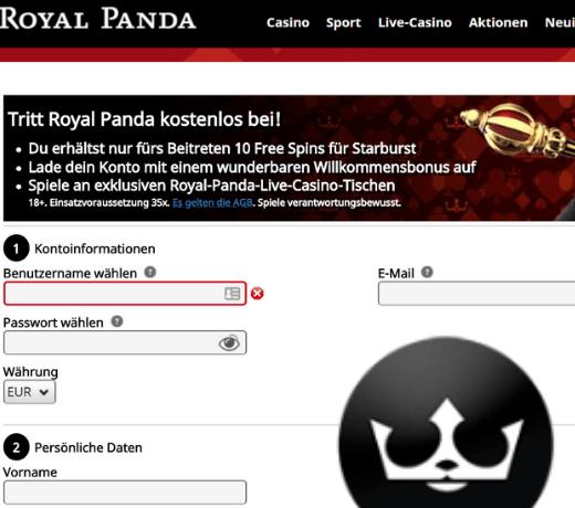 Royal Panda DE Register