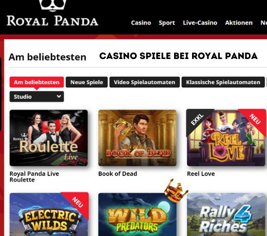 Royal Panda DE Spiele