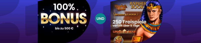 boom casino DE 500 euro bonus und 250 freispiele