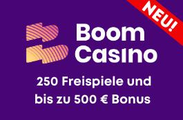 boom casino DE 100% bonus und 250 free spins