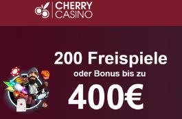 cherry casino DE 200 free spins und 400 euro bonus