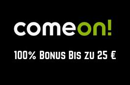 comeon 25 euro bonus
