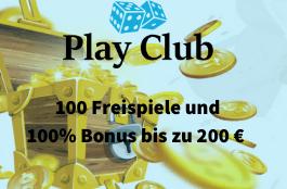 play club 100 free spins und 100% bonus