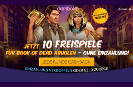gambole 10 freispiele auf book of dead