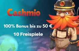 cashmio 50 euro bonus und 10 freispiele