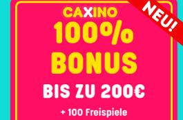 caxino de 100% bonus und 100 spins