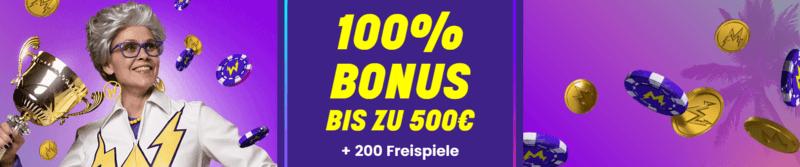 wildz de 100% bonus und 200 free spins