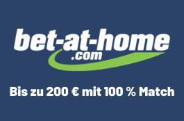 Bet at Home – Willkommensbonus bis zu 200 €