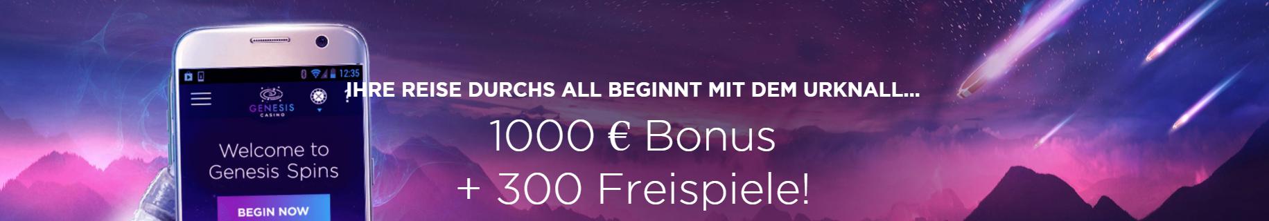 genesis spins willkommens bonus
