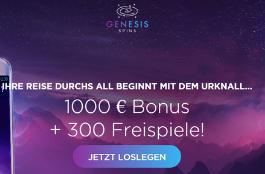 genesis spins de 1000 euro bonus und 300 spins