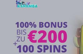 Karamba – 100 Freispiele bei der Einzahlung