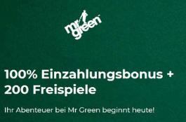 mr green AT 100 euro bonus 200 freispiele