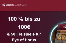 CherryAutomaten - Willkommensangebot mit 50 Freispielen und bis zu 100 € Bonus