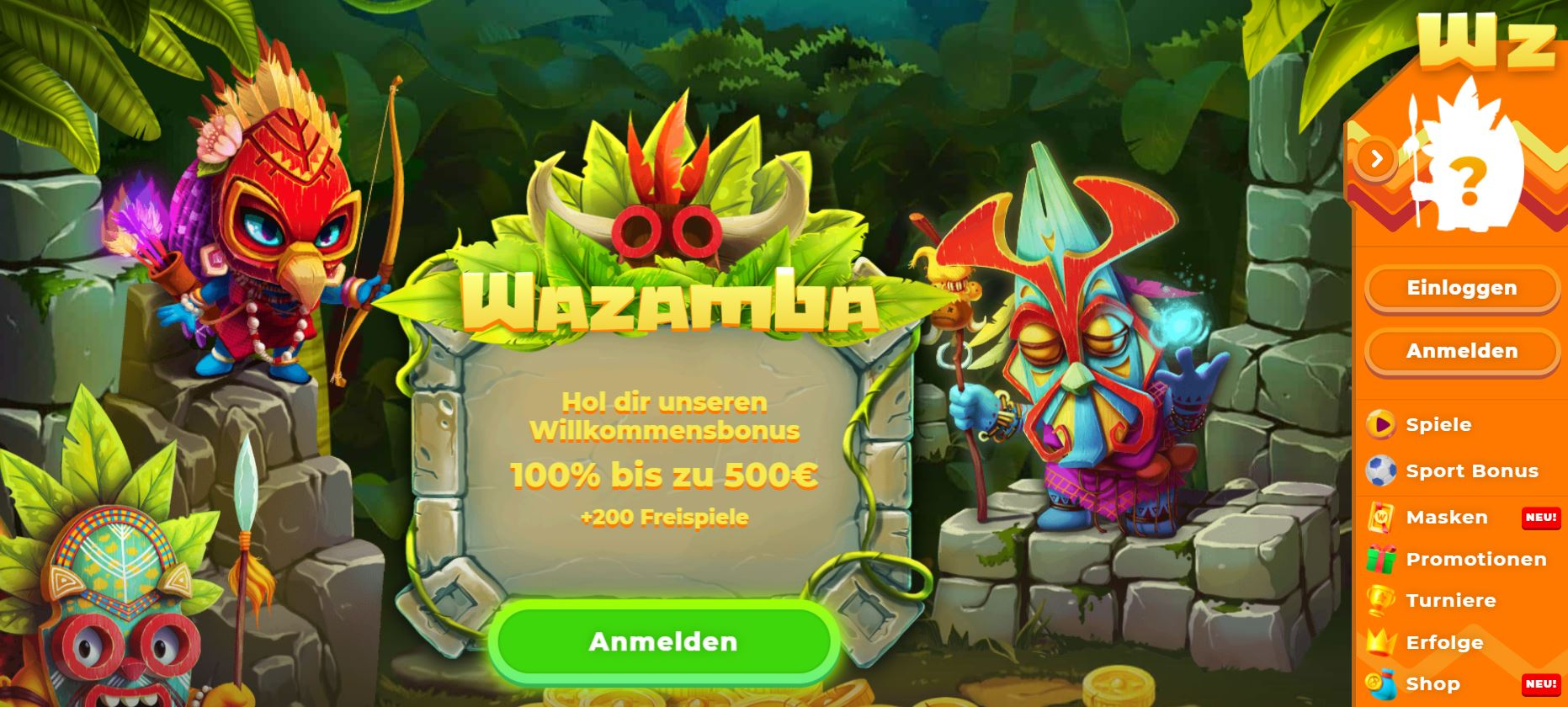 willkommen bei wazamba